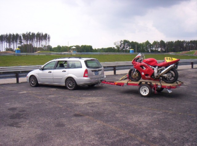 Focus Wagon Towing Motorcycle