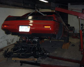 Fiero V8 Engine Swap