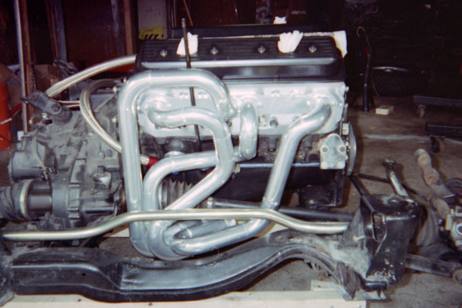 Fabricated equal length headers Fiero