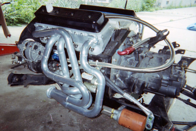 Fabricated equal length small block Chevy headers