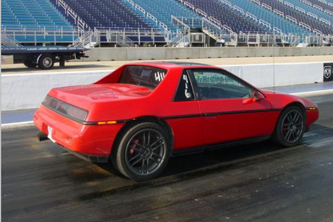 V8 Fiero at Route 66 Dragway